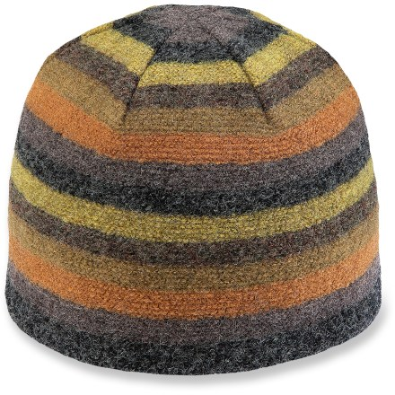 Entertainment Add some color to your outfit while keeping your ears warm with the Pistil Fergus beanie. Boiled wool is soft and warm; lining is comfortable next to skin. - $25.93