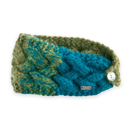 Give your winter style a splash of color with the hand-knit Pistil Ginger headband. Soft acrylic yarn is comfortable next to skin. Includes a button closure in back. - $15.93