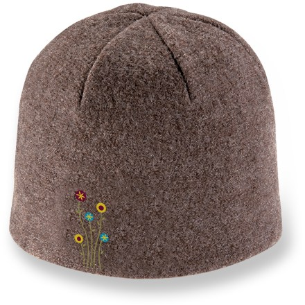 Entertainment Pull on the Pistil Sprout hat and cruise the cross-country trails or enjoy a midwinter hike. Boiled wool exterior is lined with soft polyester fleece for superb warmth and comfort. Floral embroidery adds style. - $18.83