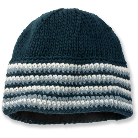 Ski The Pistil Vic hat is a great choice for littles ones enjoying the cold. Wool and acrylic blend supplies the best attributes of both: the natural warmth and durability of wool and the easy care and softness of acrylic. Polyester fleece lining is warm and soft. Closeout. - $6.83