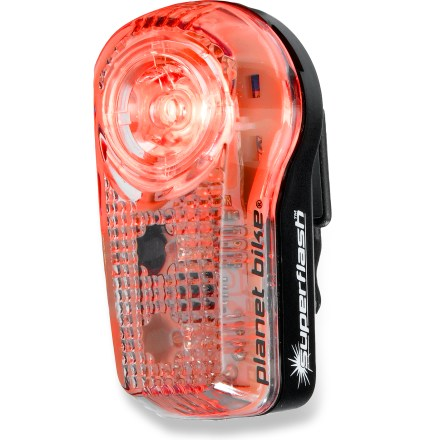 Fitness Superflash Stealth(TM) is possibly the brightest bike taillight on the planet- it has a white lens with red lights! - $25.00