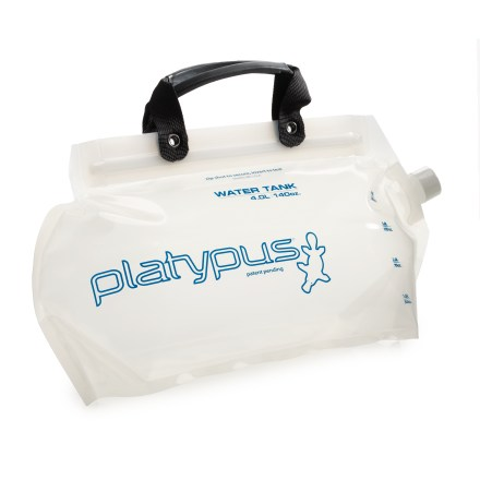 Camp and Hike The Platypus Water Tank(TM) collapsible carrier lets you transport 1 gal. (4 liters) of water with ease. - $34.95
