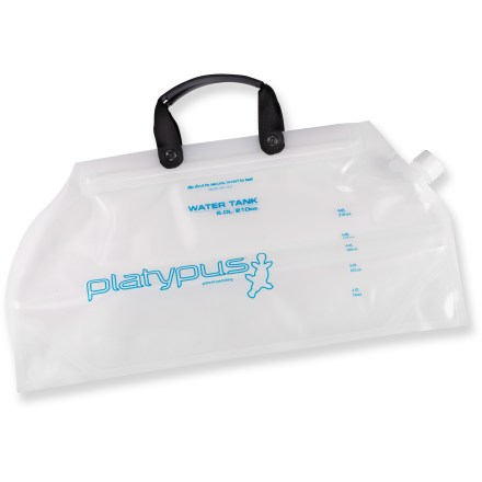 Camp and Hike The Platypus Water Tank(TM) collapsible carrier lets you transport 1.5 gal. (6 liters) of water with ease. - $39.95