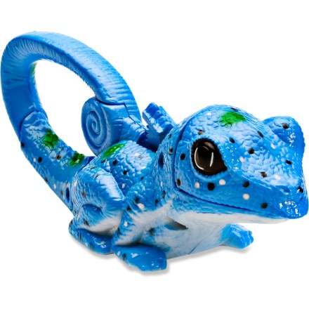 Climbing Open wide! The Play Visions Zoo Lights carabiner conceals a bright LED light inside a colorful animal's mouth! These fun little lights are great gifts and a world of fun for both young and old. Depress the button on the back of either a lizard or frog and watch its mouth open up and shine a bright, colorful LED light. Grippy, rubberized finish is airbrushed with bright and vibrant colors for a unique look. Spring loaded tail clip attaches conveniently to bookbags, key rings and belt loops. User replaceable batteries; operates on 3 LR1120 lithium batteries. Not intended for climbing or load-bearing use. - $3.93