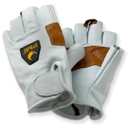 Climbing The fingerless design of these PMI belay gloves provides just enough coverage to protect your hands, yet still allows excellent dexterity. - $21.93