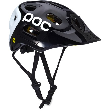 MTB The POC Trabec Race MIPS bike helmet uses strategically placed layers of materials and the MIPS system to offer sturdy protection for your noggin. - $230.00