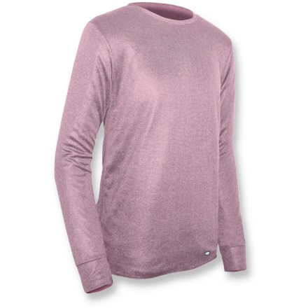 The Polarmax Double-Layer Crew top is the perfect base layer for active pursuits. Relaxed fit polyester fabric is moisture wicking and quick drying; fabric moves with you for all-day comfort. Flatlock seams offer flexibility and comfort. Closeout. - $12.93