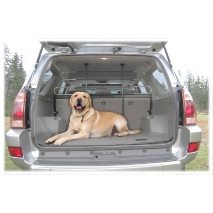 Camp and Hike On long-distance road trips or quick drives to the dog park, you can keep Fido securely separated in the back of your vehicle with this Pet Partition space barrier from PortablePET. - $49.00