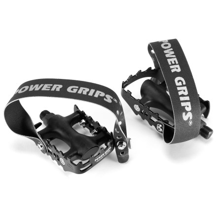 MTB The low-profile Sport Pedal kit from Power Grips includes a pair of metal cage pedals with Power Grips pedal straps attached. - $44.00