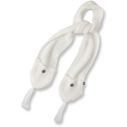 The cozy prAna Dela Pocket scarf features a pocket at each end for convenience. - $10.83