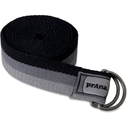 Fitness The 6 ft. prAna Raja Yoga strap helps you grasp limbs normally out of reach, and enables you to hold poses longer so you can increase flexibility. - $10.93