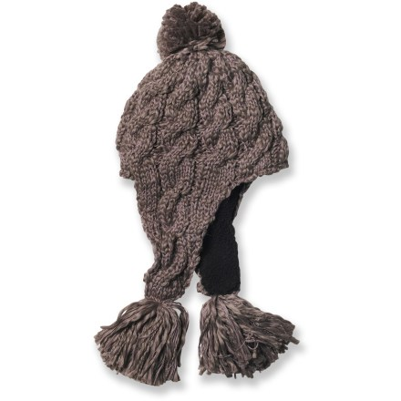 Ski The prAna Tassel beanie features an irresistible pom-pom design that's sure to please. Acrylic wicks moisture away and dries quickly. Cozy sherpa polyester fleece lining adds an extra layer of warmth. Closeout. - $13.83