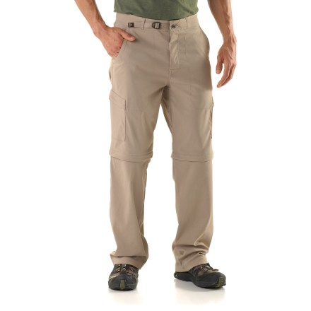 Camp and Hike Put the prAna Stretch Zion convertible pants with 30 in. inseam to the test on your next climbing trip, trail hike or globe-trotting adventure. - $43.83