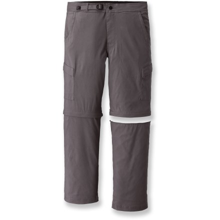 Camp and Hike Put the prAna Stretch Zion convertible pants to the test on your next climbing trip, trail hike or globe-trotting adventure. - $43.83