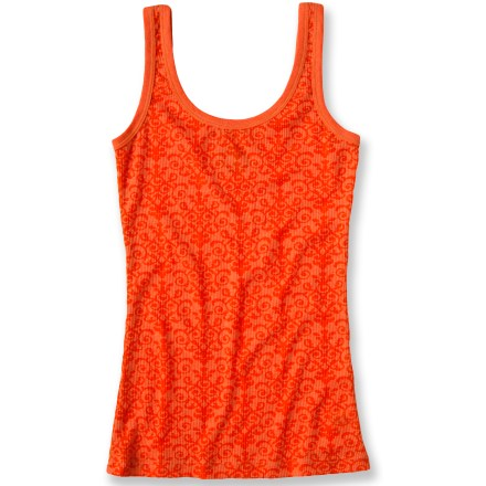 Light and colorful, the prAna Ally tank top is a sign of warm weather to come. Polyester and cotton create the perfect balance of natural comfort, easy care and style. Closeout. - $21.73