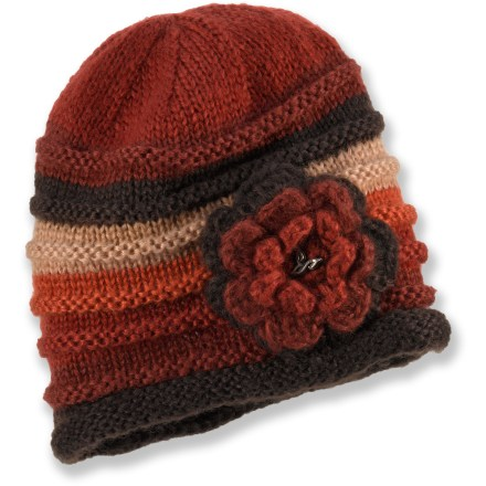 Entertainment Be ready for cool autumn days and the first snow flurries of winter with the stylish prAna Pixie Flower hat. - $20.93