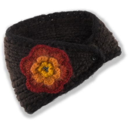 The prAna Nova headband doubles as a neck scarf to keep you warm on chilly winter mornings. Headband in 10 in. wide in the front. Includes a button closure in back. - $14.83