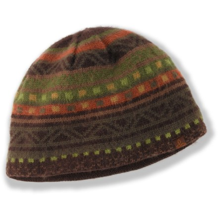 Entertainment Keep your head toasty warm on winter outings with the prAna Cole beanie. Acrylic exterior is fully lined with polyester fleece for great warmth and comfort next to skin. - $18.93