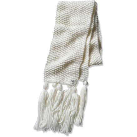 Ski The prAna Chunky scarf complements any cold-weather outfit. Soft acrylic insulates even when wet, but unlike wool, it doesn't itch, and it dries quickly when damp. Closeout. - $13.83