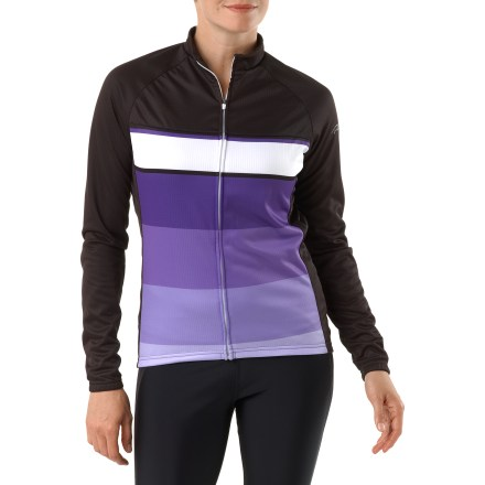 Fitness Wear it alone on fall and spring rides or layer it on winter rides, the Primal Wear Figment Thermal Fleece women's bike jersey is soft, supple and warm. Doubleweight polyester jersey fabric combines differently sized yarns to create a push/pull effect, forcing moisture away from body and pulling it to the surface to dry. Soft, brushed inner side expedites moisture wicking and traps body warmth next to skin. Full-length front zipper lets you control ventilation and allows easy on/off. Traditional collar with classic stand-up neck band. 3 back pockets hold your energy food and other essentials. Recommend temperature range 45degF - 75degF. - $43.83