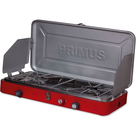 Camp and Hike The sleek and powerful Primus Profile(TM) 2-burner stove with piezo ignition packs a punch without taking up a bunch of space on your camp table. - $69.93