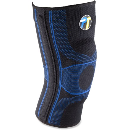 Camp and Hike The Pro-Tec Athletics Gel Force knee sleeve provides moderate support for patellofemoral pain syndrome, patellar tracking, minor ligament/meniscus tears and overall knee-joint stability. - $29.95