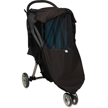 Fitness Fitting single strollers and joggers with a canopy, the Protect-a-Bub 4-Season Weather Shield offers versatile protection from the sun, rain, wind and bugs, keeping passengers comfortable. - $24.93