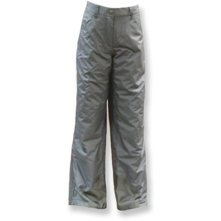 Ski The Rawik Jean snow pants are a great choice for sledding and exploring freshly fallen snow. Nylon fabric features a Durable Water Repellent finish to shed light snow and rain. Synthetic insulation offers warmth and comfort in the cold. Smooth nylon lining easily slides over base layers. Zippered fly with button closure and belt loops. Interior snow cuffs wrap around winter footwear to keep the snow out. ZIppered handwarmer pockets round out features. Closeout. - $12.73