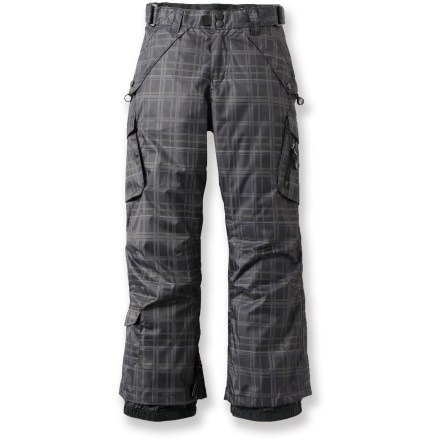 Ski The Rawik Level II Deluxe Cargo snow pants for youth boys' are made to enjoy snow-filled fun. - $43.73