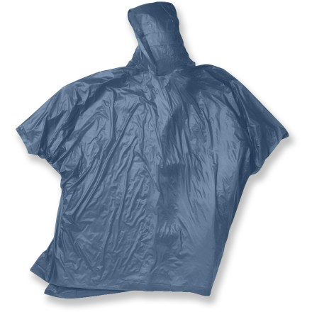 Golf Carry this Red Ledge Vinyl poncho in your pack for sudden showers that descend on the trail, at a concert or on the golf course. - $5.00
