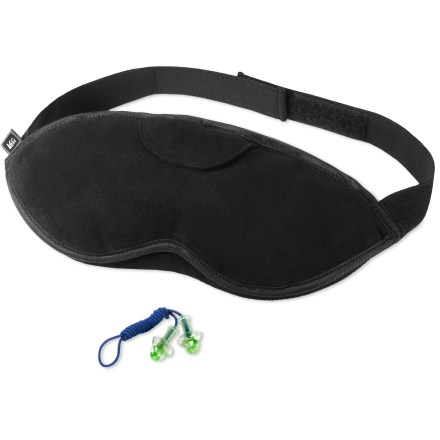 Entertainment Block out the crying babies and bright lights so you can get some sound sleep with the REI Cushioned Eye Mask and Earplugs set. - $6.93