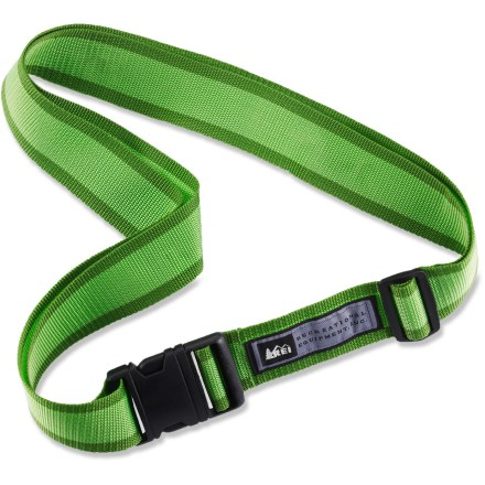Entertainment Keep your luggage from opening during travel with the REI luggage strap. - $3.93