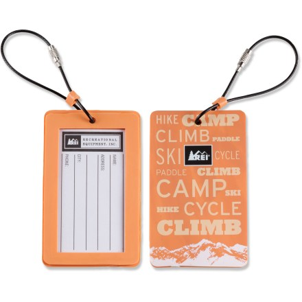 Entertainment Keep track of your bags with the REI luggage tag. Rugged protective cover clearly displays your important contact information. - $1.83