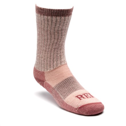 Camp and Hike With naturally wicking fibers, REI Lightweight Merino Wool Hiking Crew Socks are a comfortable choice for the trail. - $14.95