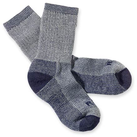 Camp and Hike Keep your feet warm, cushioned and dry on the trail with the naturally wicking fibers in the REI lightweight merino wool hiking crew socks. - $14.95