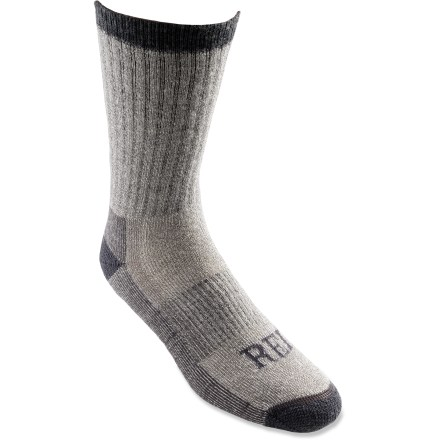 Camp and Hike The REI merino wool hiking socks are a perfect midweight choice for hiking and backpacking, because the merino yarns naturally wick moisture but have just enough nylon for durability. - $15.95