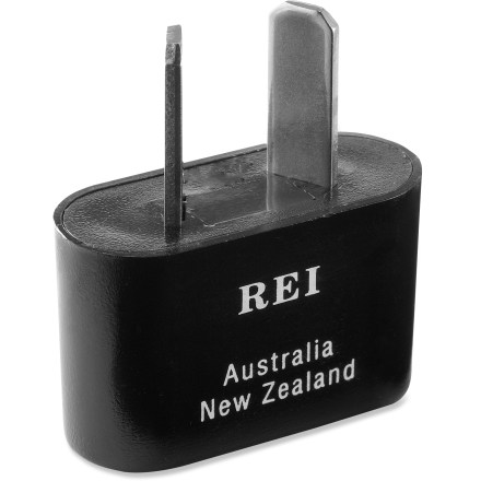Entertainment The E107 polarized adapter plug lets you plug your North American appliances into electrical outlets in Australia, New Zealand, Fiji and China. Some countries use more than 1 type of outlet configuration; check with your travel agent, consulate or hotel for information regarding electricity and outlet configuration. Please note: Adapter plugs allow travel appliances to fit into foreign outlets; they do not convert electricity. For use with dual-voltage appliances or a voltage converter (sold separately). - $1.93