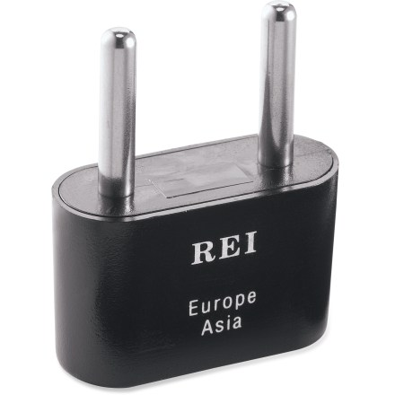 Entertainment The E106 polarized adapter plug lets you plug your North American appliances into electrical outlets in most parts of Europe and Asia. - $4.00