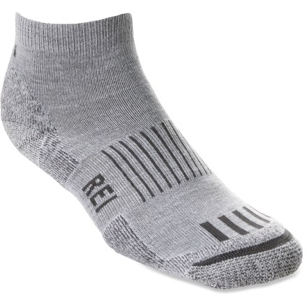 Featuring recycled materials, our quarter socks use CoolMax(R) EcoMade(TM) fabric, made from recycled plastic bottles, to deliver multisport performance. - $3.83