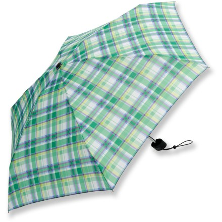 Entertainment Stash the uber-portable REI Compact Travel umbrella in your pocket, purse or briefcase and you'll always be prepared for a downpour. - $25.00