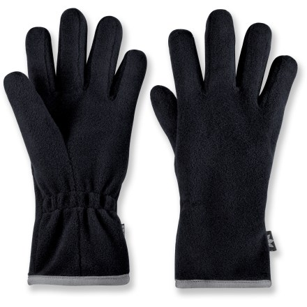 Camp and Hike These lightweight REI Oslo gloves feature Lavawool(R), a blend of polyester and wool, for warmth and can be as liners or on their own. Fabric absorbs body moisture through the natural wool fiber, then releases it into outer polyester fibers to accelerate drying. Lightweight, ergonomically constructed shape fits close to the skin; works well as liner gloves beneath shell gloves. Lycra(R) spandex bindings at the wrists provide form-fitting comfort. Cut and sized for a women-specific fit. - $14.93