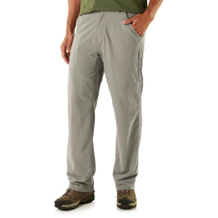 Camp and Hike You asked and we listened! The ever-popular REI Adventures pants have been spiffed up with new colors, an updated fit and a center gusset to meet your traveling needs like never before. - $11.83