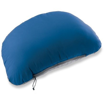 Camp and Hike Lightweight and compressible, the REI Backpacker pillow uses duck down and feathers combined with durable synthetic fill to create an incredibly comfortable backpacking pillow. - $24.95