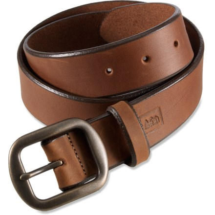 The REI Rugged leather belt will keep your pants up while complementing your outdoorsy style. - $16.83
