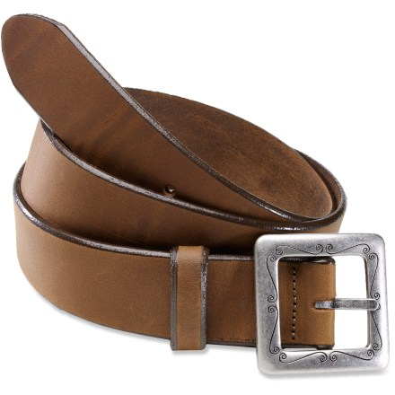 Whether you're dressing up or down, the REI Basic Leather belt adds a nice subtle touch to your wardrobe. Includes an attractive square-shaped metal buckle. Measured from the center of the buckle to the third hole, size small is 33 in., size medium is 35 in., size large is 38 in. and size X large is 41 in. 5 holes allow the belt to be adjusted plus or minus 2 in. from the stated size. - $13.83