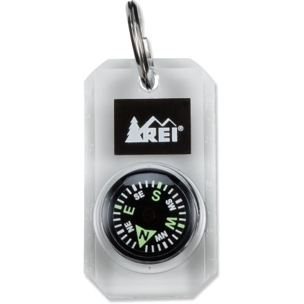 Camp and Hike Attach this tiny compass to a zipper pull or key ring for quick, easy readings. - $6.93