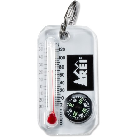 Camp and Hike Keep a backcountry resource center at your fingertips! This tool has both a compass and thermometer with wind-chill chart. - $7.93