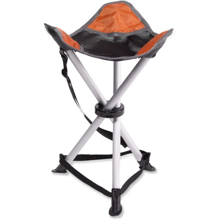 Camp and Hike Get off the ground and up onto the comfortable, travel-friendly Trail Stool. It's light enough to take on short hikes and sturdy enough for regular use at the campground. - $22.50