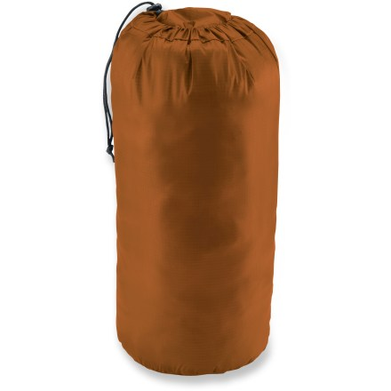 Camp and Hike The REI Lightweight stuff sack corrals and contains your sleeping bag or gear while shaving weight with an ultra lightweight fabric. - $7.93