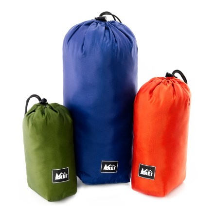 Camp and Hike This set of REI Ditty Sacks with drawstring/toggle closures helps you organize and store gear for camping or backpacking. - $16.95